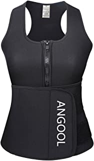 Waist Trainer Neoprene Sweat Sauna Vest for Women Weight Loss with Zipper and Waist Trimmer Belt