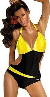 comprar comparacion ISSHE Bañadores Mujer Bikini Escote Halter Monokini Trajes de Baño Señora Traje de Baño Bikinis Mujeres Trikini Bañador Na...