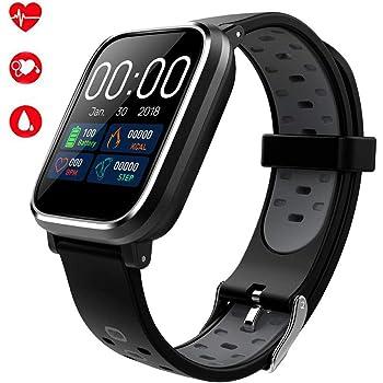 Ventdest Smartwatch con GPS, Impermeable Reloj Inteligente Apoyo Pulsómetro, Monitor de sueño, monitoreo de la presión Arterial etc, Bluetooth 4.0 Multifunciones Deporte Reloj para iOS y Android: Amazon.es: Electrónica