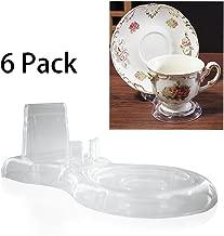 Artliving Clear Teacups and Saucer Display Easel Stand Holder,Set of 6