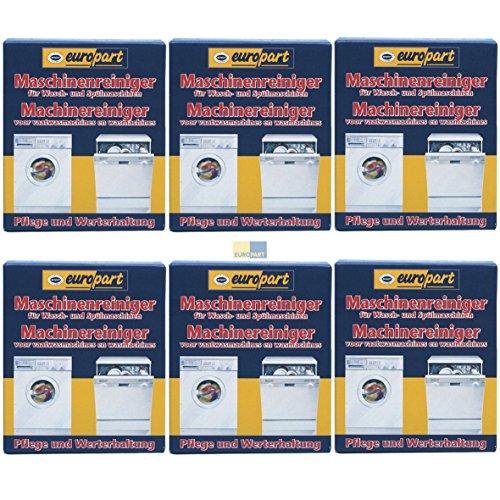SET 6x ORIGINAL Europart Pflege Fett Entferner Fettentferner Reiniger Pflegemittel Reingungsmittel Waschmaschine Spülmaschine Geschirrspüler 811713 10007689 zur Werterhaltung