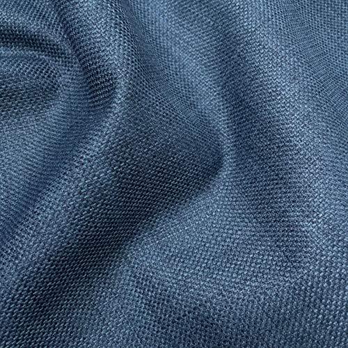 MIDNIGHT BLUE LINEN LOOK DESIGNER SOFT PLAIN CURTAIN CUSHION SOFA UPHOLSTERY FABRIC MATERIAL
