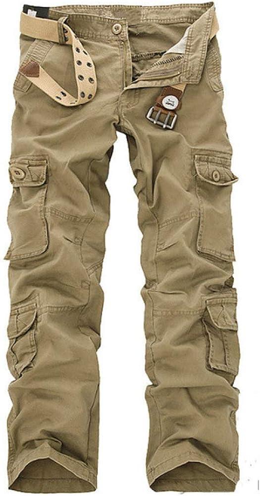 N/ A Chinos para Hombre Pantalones Casuales elásticos Ropa de Trabajo Pantalones de Escalada para Caminar Pantalones de Trabajo de Combate de Carga, ...