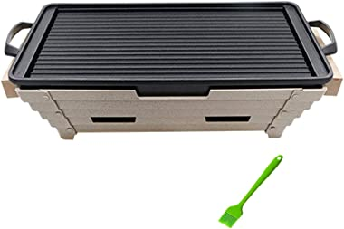 Grills Propane Outdoor Indoor Barbecue Charcoal Grilling Stainless Steel Charcoal Barbecue for Household 3-5 People Outdoor B