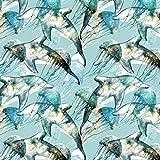 Schickliesel Jersey Stoff Meterware Delfine (hellmint)