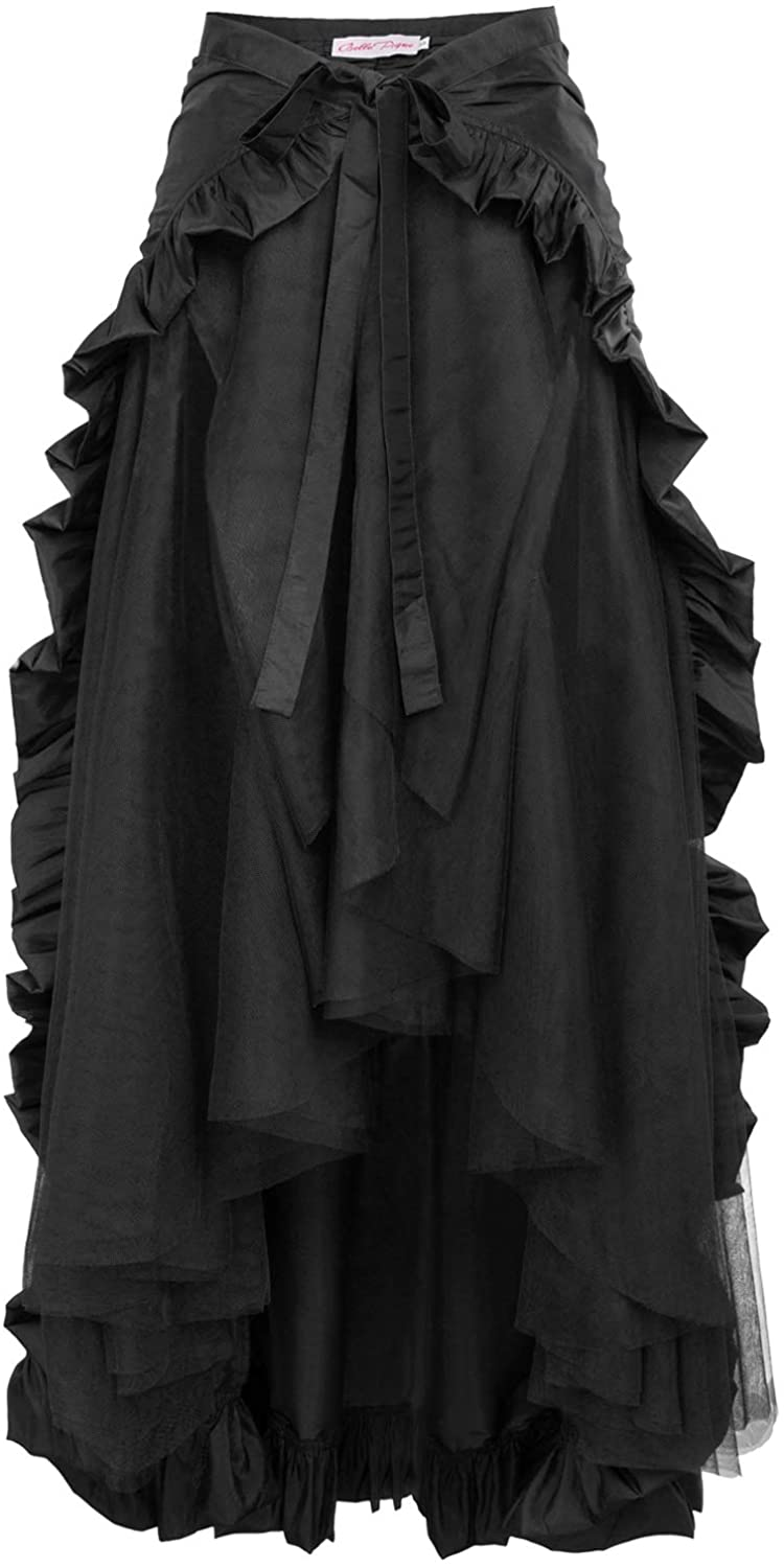 Belle Poque Fort Worth Mall Women's Steampunk Gothic Skirt Ruffle Max 55% OFF Victorian Wrap