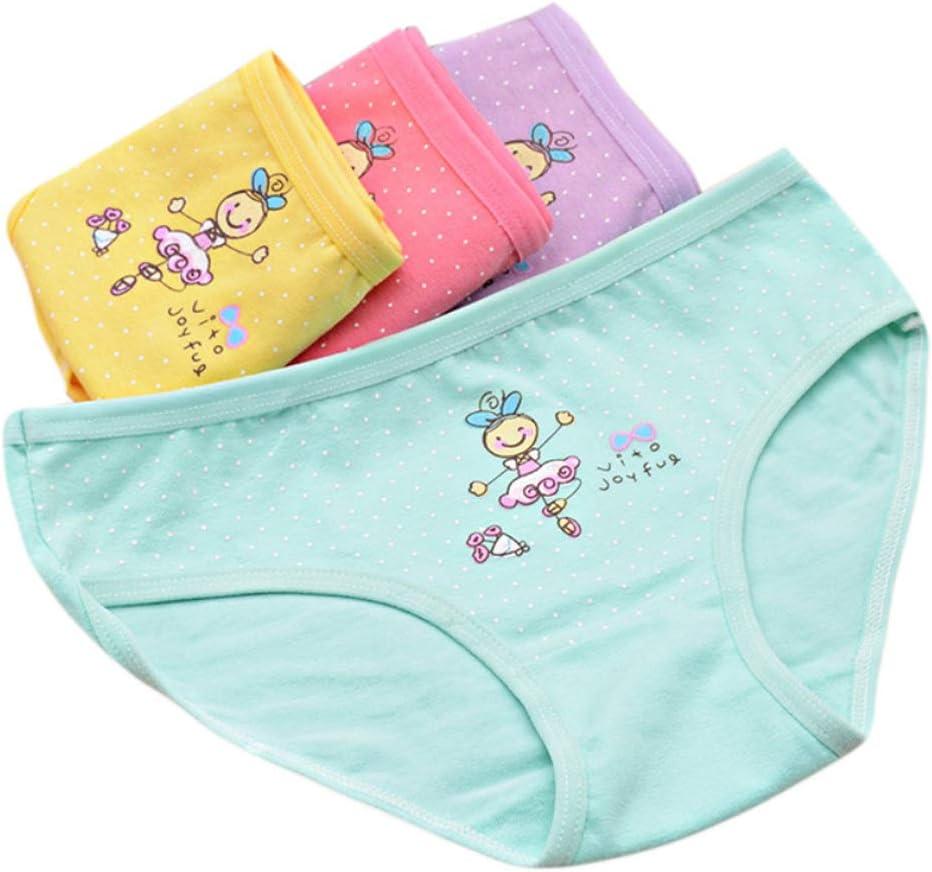 LOHONER Kids Underpants Cartoon Dance Girl Cotton Triangle Underwear Baby Girls Panties