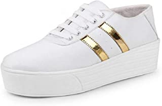 Shoefly White-993 Casual Sneakers Shoes for Women