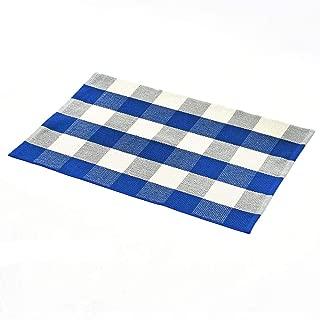 blue checkered floor
