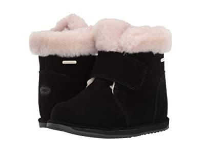 EMU Australia Kids Sommers (Toddler/Little Kid/Big Kid) (Black) Girls Shoes