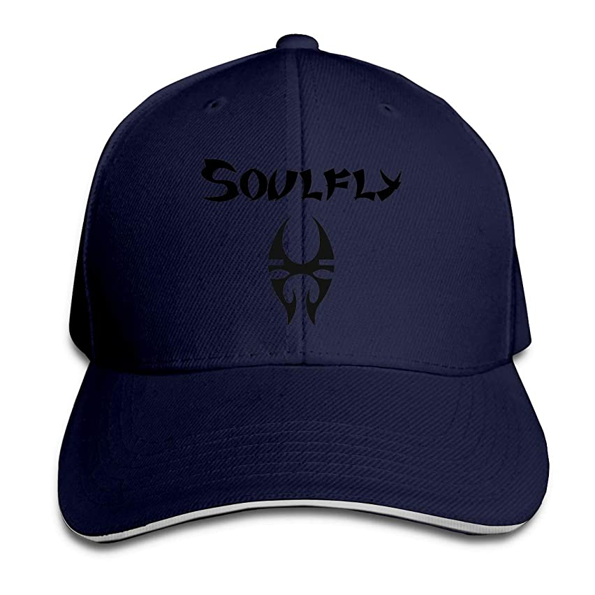 Corrine-S Soulfly Logo Outdoor Hiking Cotton Snapback Hat Adjustable White