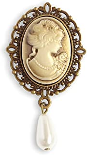 Best emerald cameo brooch Reviews