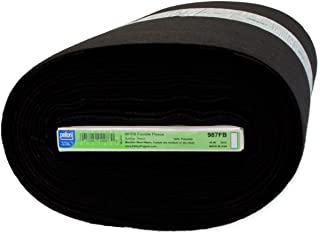 Pellon 987 45in Fusible Fleece-Black Fabric by The Yard