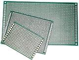 Jolicobo 3Pcs Kit de prototipos de Placa PCB de Doble Lado para Soldadura DIY con 3 tamaños compatibles con los Kits
