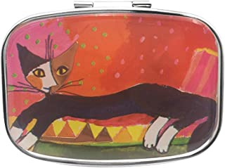 Baoblaze Kitty Decor Portable Pill Storage Case Travel Medicine Splitter Make-up Box, Travel Size
