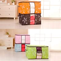 Yuniole Underbed Storage Bags Organizer Container with Strengthened Handles and Enhanced Zipper