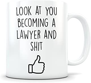 Law School Graduation Gifts - Lawyer Graduates - LSAT Coffee Mug for Men and Women School Students Class of 2018 - Funny Grad Diploma or Academic Degree Congratulations