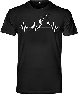 Herzschlag Angeln T-Shirt   EKG   Angler   Angel   Fischen  