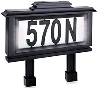 Black Series 52 Piece Solar-Powered Lighted Address Plaque / Stake