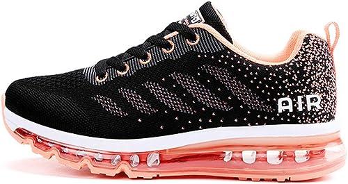 Monrinda Baskets Homme Chaussures de Course Femme légères Sneakers Chaussures de Sport Respirantes et Antichocs