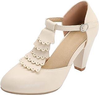 HapyLady Dames Blok Hak Sandalenen T Bar Zomer Shoes Avond
