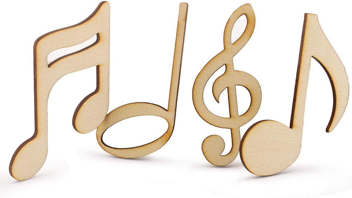 Summer-Ray 60pcs Laser Cut New Free Shipping Wooden Notes Now on sale Musical 3