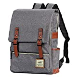 Canvas Backpack - Lightweight Laptop Backpack, Vintage Travel Backpack with Laptop Sleeve, Campus...