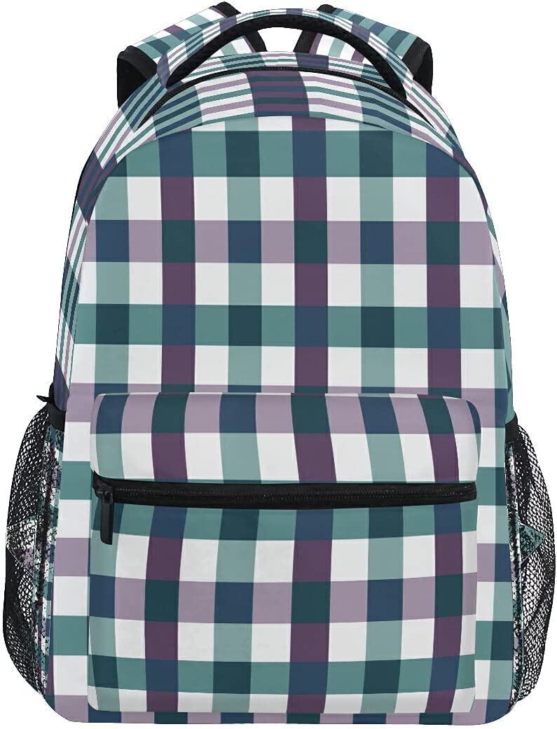 xigua Checkered Milwaukee Mall Pattern Backpack Large Multiple New item Kid Book Pockets