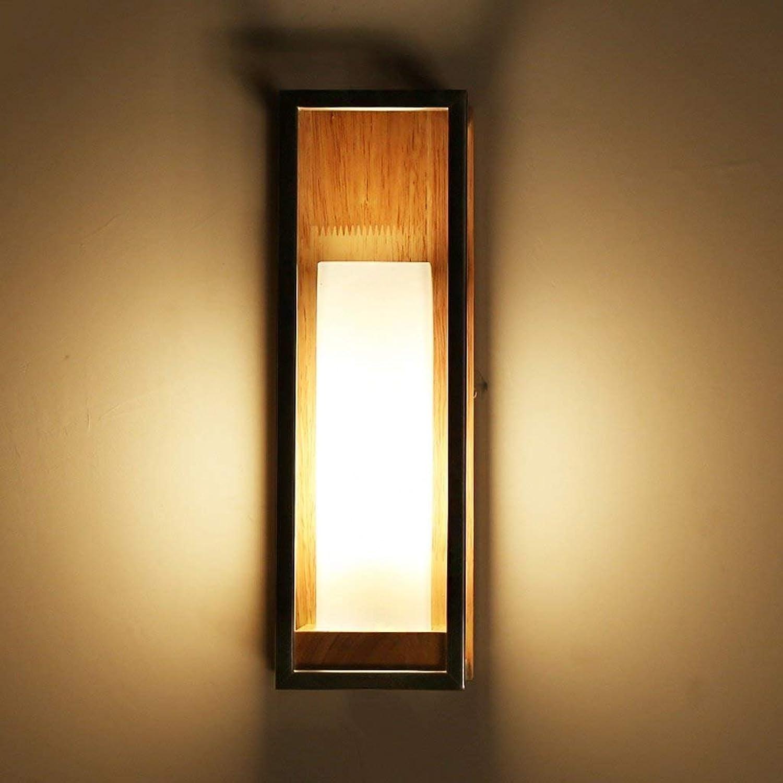 JU JU JU Einfache Moderne Nachttischlampe Kreative Led Wohnzimmer Gang Balkon Lampe Schlafzimmer Nordic Massivholz Wandleuchte B07FZWYJBN | Neuer Stil  634bb2