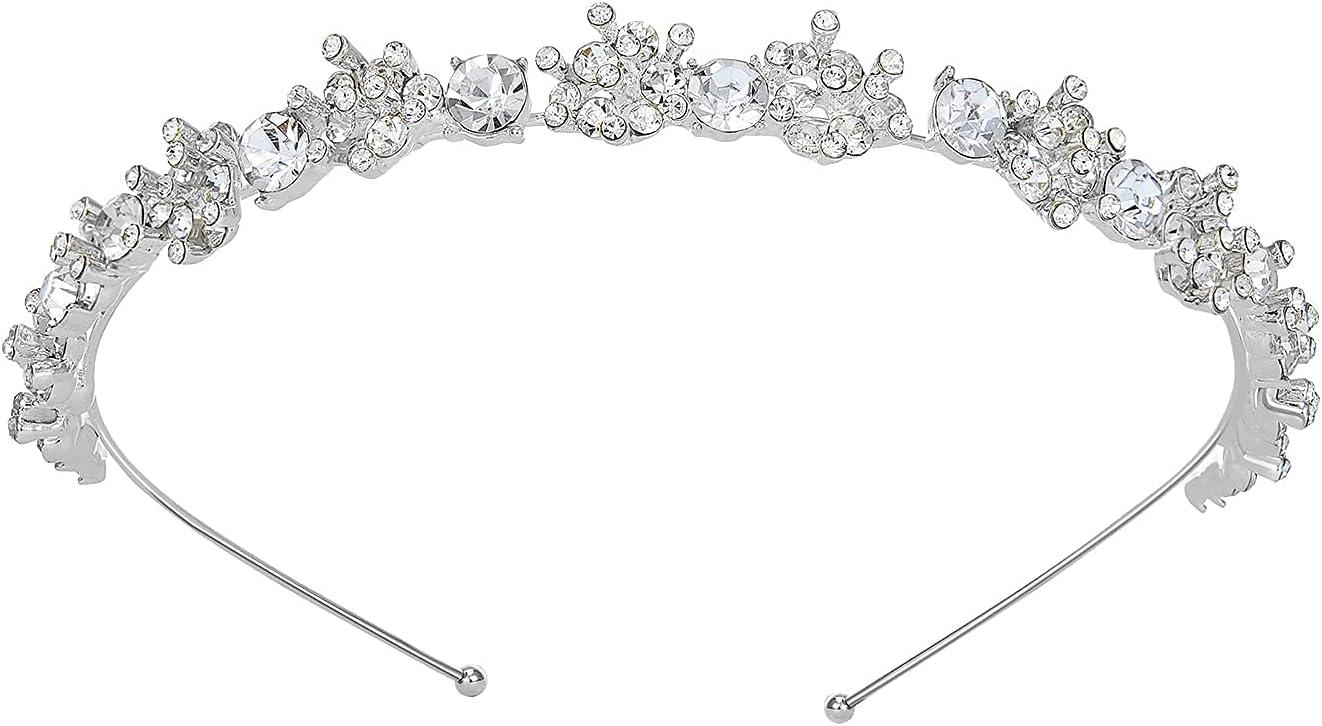SWEETV Tiara Diadema Con Rhinestones Para Fiesta Novia Boda Corona Nupcial Tocado Accesorios del Pelo de las Mujeres