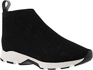 ALL BLACK Womens All Mesh Hight Top Slip On Fashion Sneakers