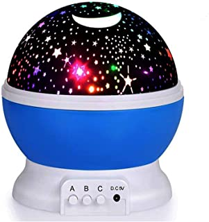Baby Star Projector, 360° Rotation Night Light Projector for Kids with 8 Lighting Modes - Blue Night Light [DPL]