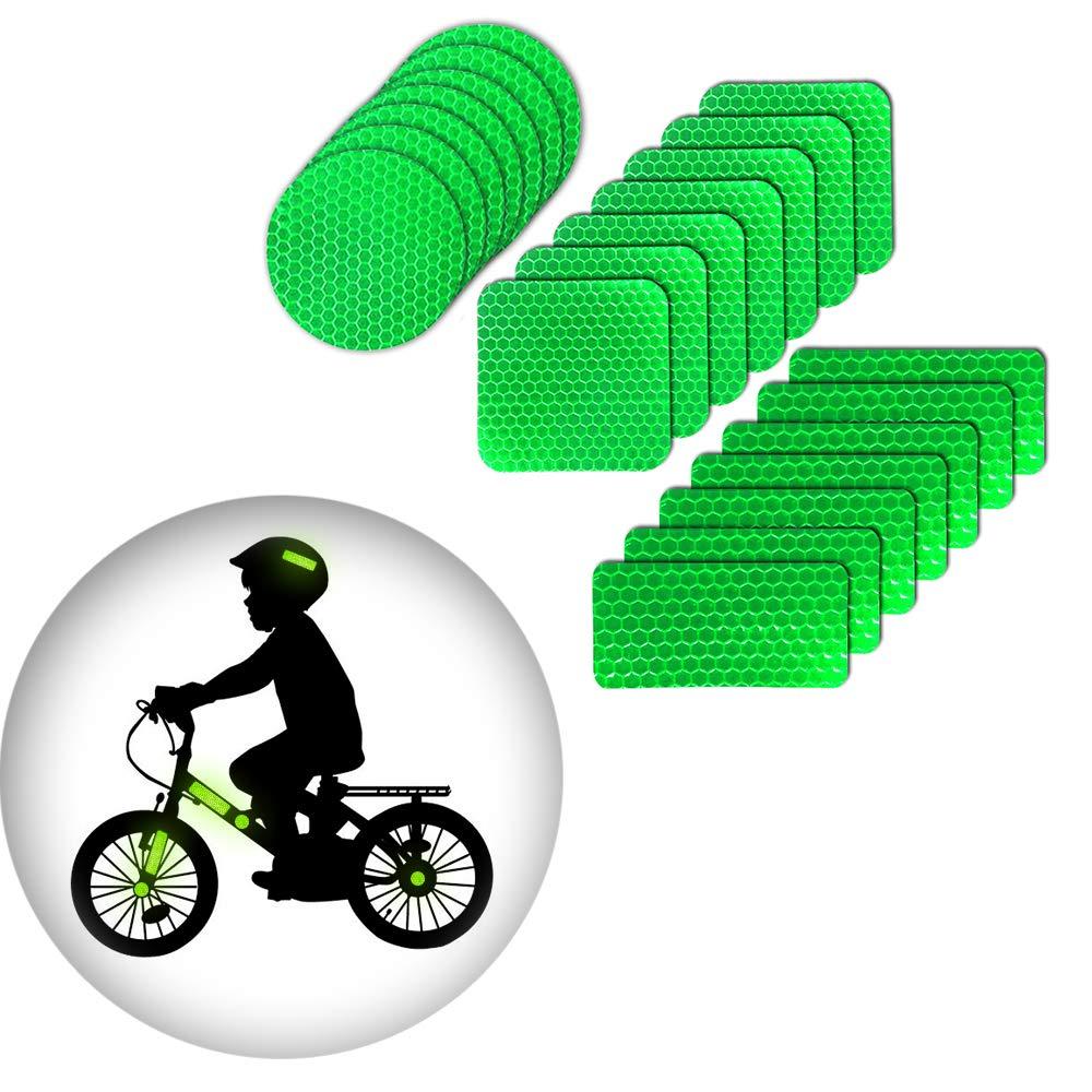 Pegatinas reflexivas Impermeable Adhesivas Reflectantes para Casco de Bicicleta Verde: Amazon.es: Coche y moto
