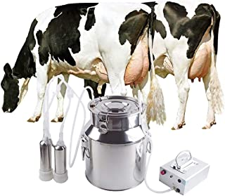Futt 14L Electric Milking Machine Single Bucket Piston Vacuum Milking Machine for Cows Cattle or Sheep Optional (【Pulsation Type】, Cow)