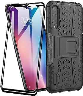 FANFO® Funda para Xiaomi Mi 9 Lite de Silicona y PC Antigolpes Carcasa Protectora Anti-arañazos y Antideslizante con Sopor...