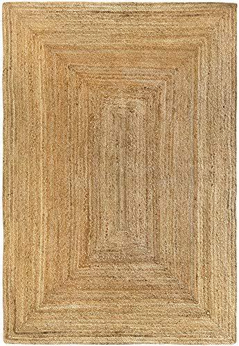 HAMID Jute Teppich - Alhambra Teppich 100{a27f85fe79e57f3ad43dc09bfaf28bb9f659714abaf8cb4bb27875d91d7ef7fe} Naturfaser de Jute (120x170cm)