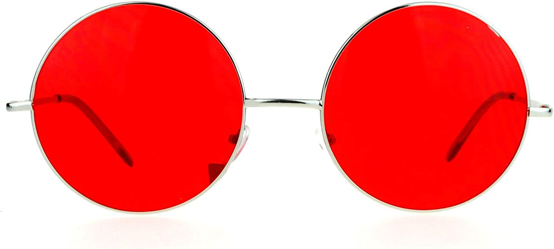 Hippie Retro Groovy Challenge the lowest price Gradient Oversize Sunglass Lens Round Circle Kansas City Mall