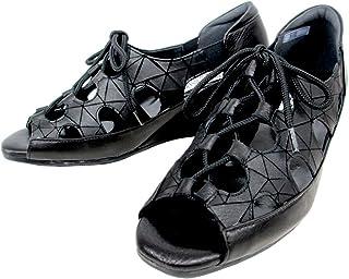 [フィズリーン] fizzreen 602 レディース レースアップ オープントゥパンプス 通勤靴 仕事靴