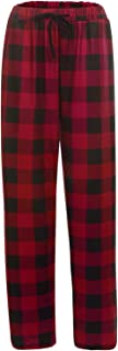 LLF Men's Soft Plaid Sleep Pants Male Pajamas Pants Bottoms Home Sleepwear for Elastic Waist Pijama Nightwear Sleepwear Un...