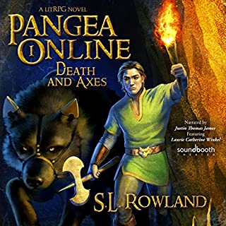 Pangea Online Book One: Death and Axes: A LitRPG Novel                   By:                                                                                                                                 S.L. Rowland                               Narrated by:                                                                                                                                 Justin Thomas James,                                                                                        Laurie Catherine Winkel                      Length: 7 hrs and 33 mins     11 ratings     Overall 4.5