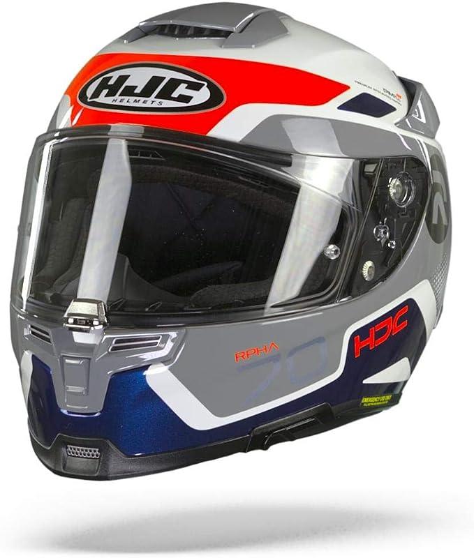 Hjc Helmets Herren Nc Motorrad Helm Schwarz Weiss Rot S Auto