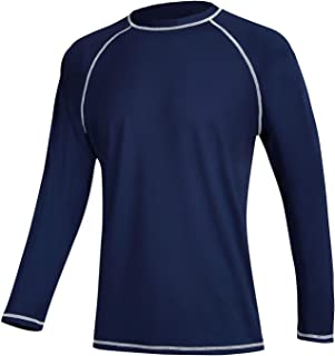 Men's Swim Shirts Rashguard Sun Shirt UPF 50+ UV Sun Protection Outdoor Long Sleeve T-Shirt Swimwear