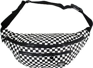 Editha Unisex Fashion Checkerboard Print Fanny Pack Raves Waist Bag Hip Pack Bum Bag Chest Backpack 3088 Black