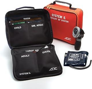 کیت فشارخون ADC Multikuf 740 5-Cuff EMT با 804 پالم قابل حمل آنژیوئید اسفنجمومومتر ، کودک ، بزرگسالی ، بزرگسال ، بزرگسالی و فشارخون ران بزرگسالان (13-66 سانتی متر) ، کیف ذخیره سازی نایلون فشرده سیاه ، چند رنگ