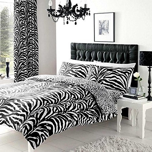 Gaveno Cavailia 11049142 ZEBRA SKIN Bed Set With Duvet Cover and Pillow Case White/Black Double