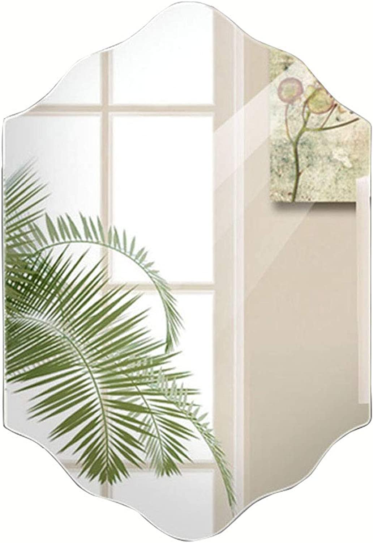 Mirror Frameless Dressing mirror 5mm Wall Hanging Bathroom mirror Sink Glass mirror 3 Sizes (Size   45  60cm)