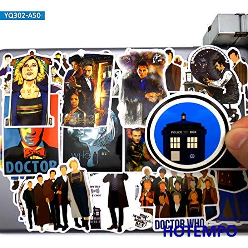 BLOUR 50 Stück Doctor Who Classic TV-Serie Sci-Fi-Stil Aufkleber Spielzeug für DIY Laptop Koffer Skateboard Handyhülle Aufkleber Aufkleber