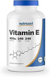Nutricost Vitamin E 400 IU, 240 Softgel Capsules - Gluten Free, Non-GMO