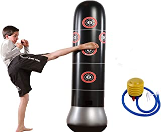 Fitness Punching Bag Inflatable Punching Bag Freestanding Kicking Bag De-Stress Boxing Target Bag for Childrens Adult
