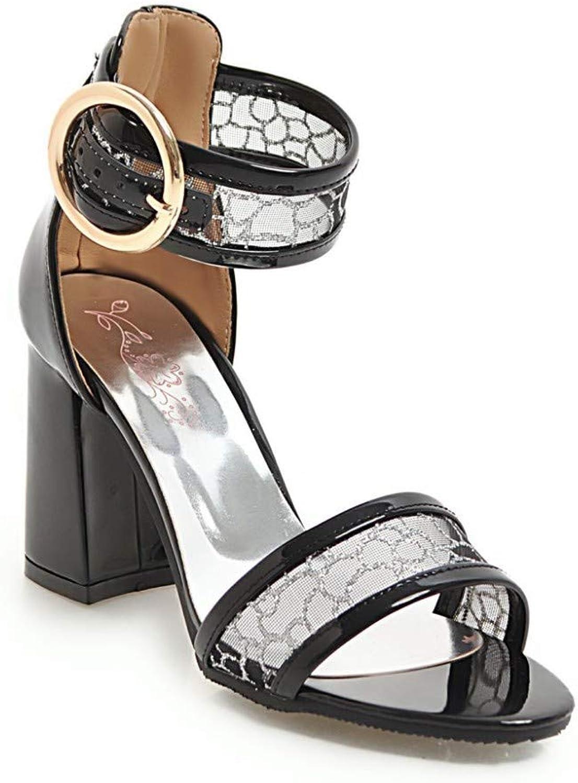 HmDco Frauen Peep Sandals Hollow schuhe mit High Heels
